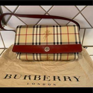 Rare Vintage Burberry Haymarket Shoulder Bag